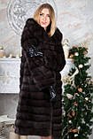 Шуба з капюшоном з баргузинського соболя sable jacket fur coat, фото 2