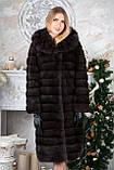 Шуба з капюшоном з баргузинського соболя sable jacket fur coat, фото 3