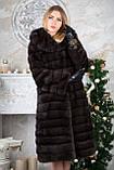 Шуба з капюшоном з баргузинського соболя sable jacket fur coat, фото 4