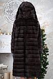 Шуба з капюшоном з баргузинського соболя sable jacket fur coat, фото 5