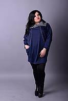 Женское платье -туника больших размеров у-10151053