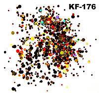 Конфетти №176 (красный/золото/черный)