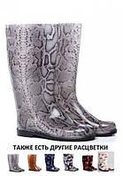 """Сапоги резиновые женские """"Серый питон""""., фото 1"""
