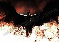 Картина 60х40 см Бэтмен в огне