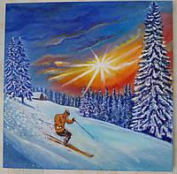 Картина на подарок Фристайл 40*40 масло холст на подрамнике