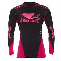 Рашгард женский с длинным рукавом Bad Boy Sphere Black/Pink XS