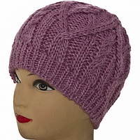 Теплая зимняя шапка женская