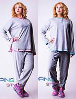 Женская трикотажная пижама мод.0903 (р.2XL-4XL)