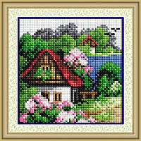Летний домик. Набор алмазной живописи (квадратные, полная) (F0400)