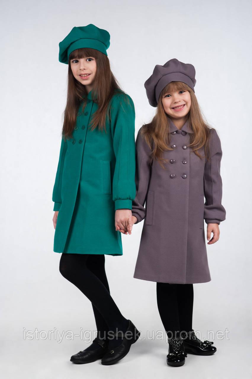 Пальто демисезонное для девочки К-112