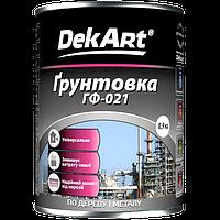 Грунтовка ГФ-021 DekАrt (красно-коричневая) 0,9 кг