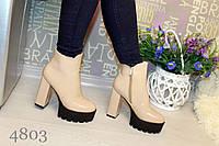Ботинки женские лаковые