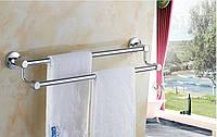 Вешалка для полотенец настенная двухуровневая в ванную или на кухню, фото 1