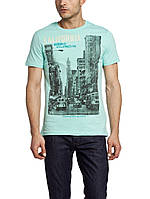 Мужская футболка LC Waikiki голубого цвета с надписью California