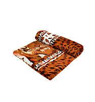 Большой плед на кровать Тигр