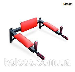Брусья настенные с подлокотниками(черные) от TM Koloss-sport