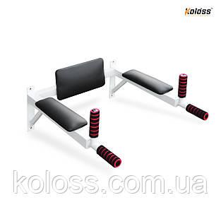 Брусья настенные с подлокотниками(белые) от TM Koloss-sport