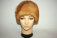 Берет женский светло-коричневого цвета, норка