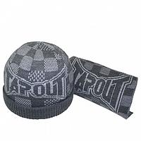 Мужской зимний набор шапка и шарф