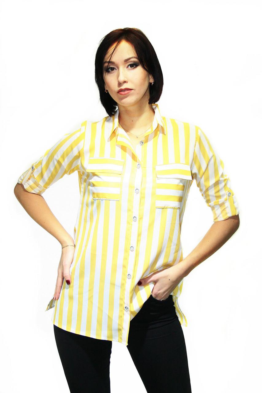 Блузка  Oscar Fur  Б-11  Жёлто-белый