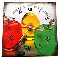 Яблоки часы на кухню на стену