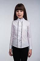 Школьная, белая блуза Р-34/1