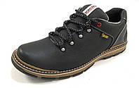 Туфли мужские  спортивные VANSHOES кожаные, черные (р.44,45)