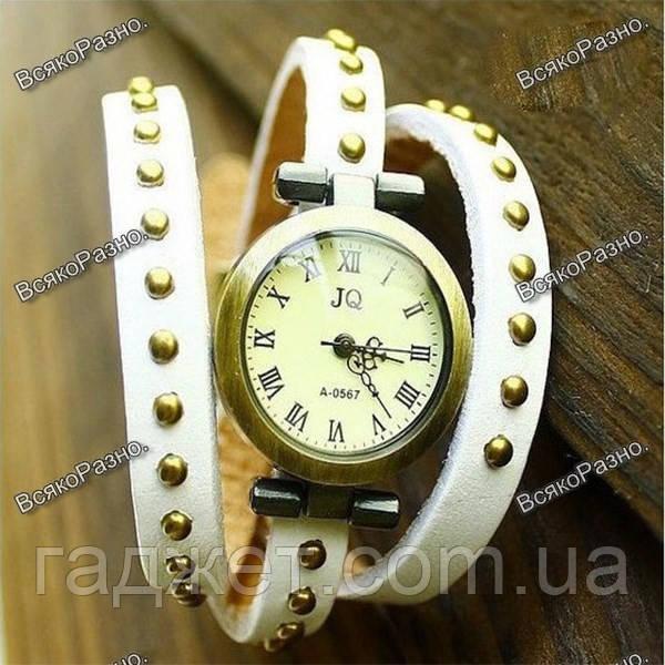 Молодежные дизайнерские наручные часы белого цвета