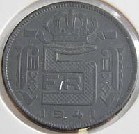 Монета Бельгии. 5 франков 1941 год