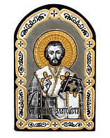 """Икона на камне """"Святой Иоанн Златоуст"""""""