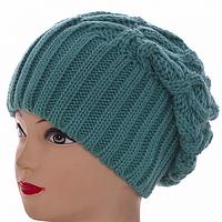 Теплая берет-шапка зимняя