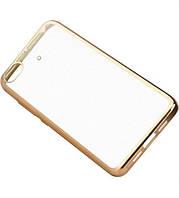 Прозрачный силиконовый чехол для Xiaomi Mi 5s с глянцевой окантовкой Золотой