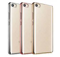 Прозрачный силиконовый чехол для Xiaomi Mi 5s с глянцевой окантовкой Розовый