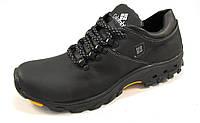 Туфли мужские  спортивные COLUMBIA кожаные, черные (коламбия)(р.44,45)
