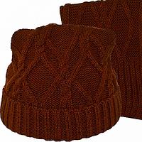 Шарф и шапка набор зимний для подростка