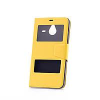 Чехол (книжка) с TPU креплением для Microsoft Lumia 640XL             Желтый