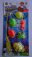"""Рыбалка детская """"Kings Fishing"""",6 рыбок ,удочка на листе 300*150*25мм.Игрушка Рыбалка для детей.Рибалка дитяча"""