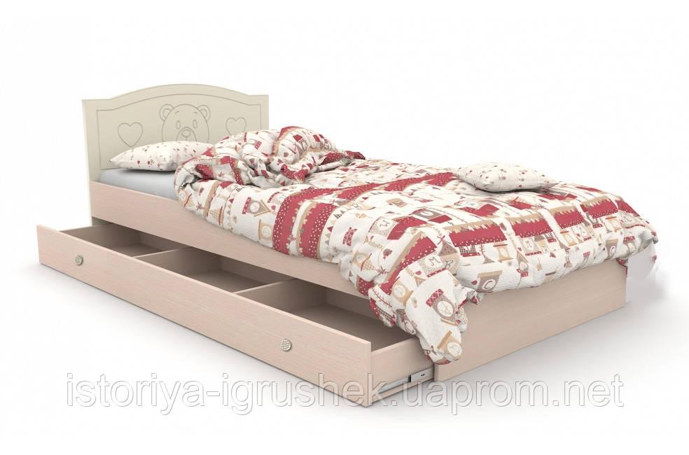 Детская кровать «Мишка» 120x190 см, + ящик на 3 секции, цв