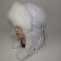 Теплая шапка-ушанка для подростка