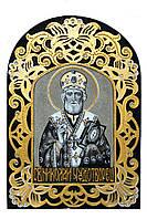 Ікона на камне Святой Николай чудотворец