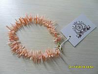 Браслет с натуральным розовым кораллом. Индийский браслет с кораллом