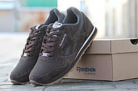 Мужские кроссовки Reebok коричневые / кроссовки мужские Рибок, замша + нубук, модные