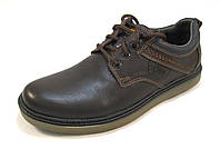 Туфли мужские  FERUM кожаные, коричневые (р.41)