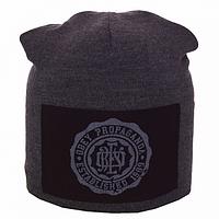 Качественная мужская вязанная шапка на флисе