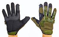 Перчатки тактические с закрытыми пальцами MECHANIX WEAR BC-4698-G (р-р L-XL, оливковый)