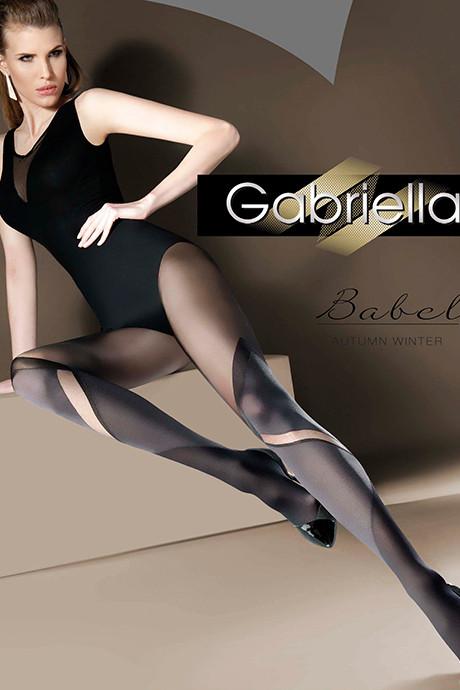 Фантазийные матовые колготки Gabriella Babel 40 den