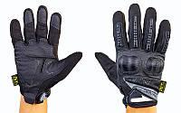 Перчатки тактические с закрытыми пальцами и усил. протектор MECHANIX MPACT 3 BC-4923-BK (р-р M-XL)