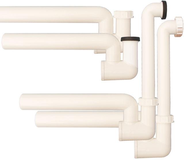 Сифон с водяным затвором Hutterer & Lechner DN40 с механическим запахозапирающим устройством HL136N
