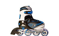 Роликовые коньки ролики раздвижные детские размер 31-34, 35-38, 39-42 синие