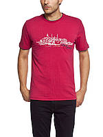 Мужская футболка LC Waikiki красного цвета с рисунком на груди М